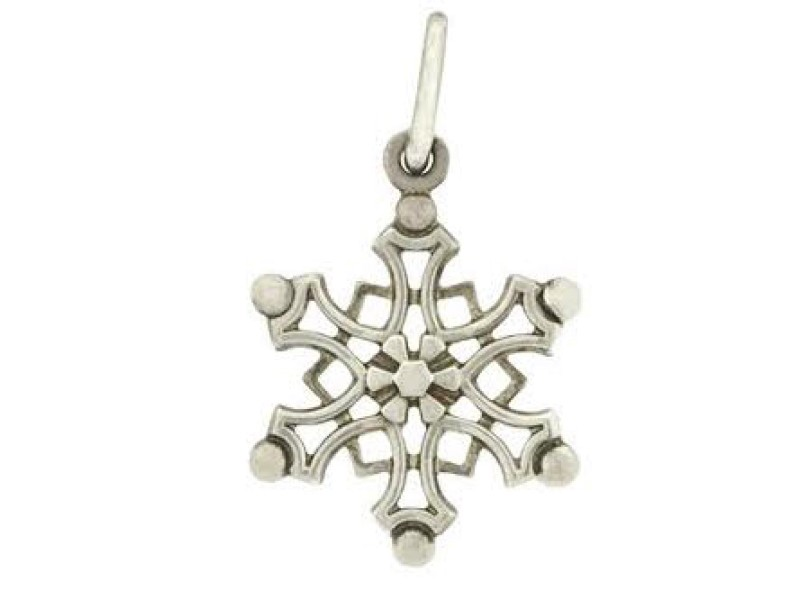 Tiffany & Co. Sterling SIlver Snow Flake Charm