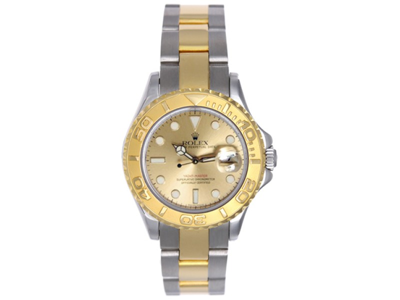 Rolex Yacht-Master 169623 18K Yellow Gold Champagne Dial 29mm Womens Watch