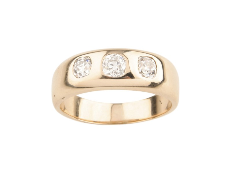 14K Yellow Gold with 1.00ctw. Diamond Wedding Band Ring Size 10
