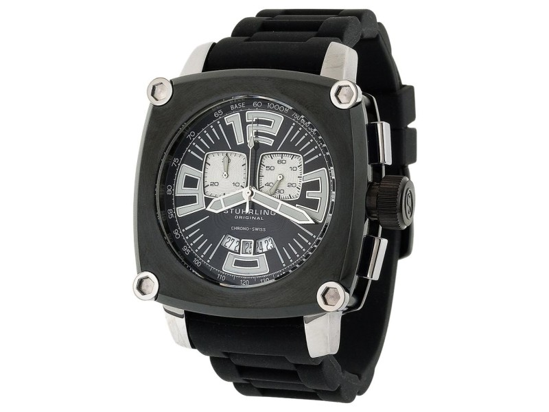 Stuhrling Milano Piazza Chrono 614.33161 Stainless Steel & Rubber 47mm Watch