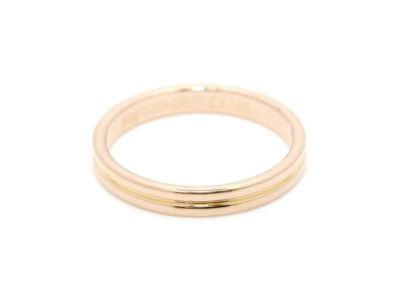 BOUCHERON  18K Pink Gold Godron Ring