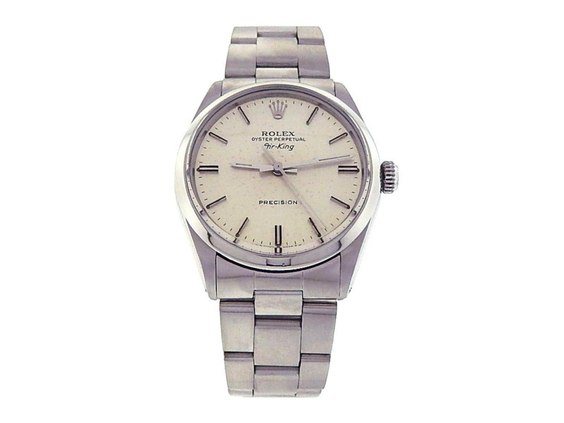 Rolex Air-King 5500 Stainless Steel Oyster Silver Dial Automatic 34mm Men's Watch