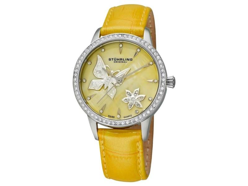 Stuhrling Verona Mariposa 518.1115G95 Stainless Steel & Leather 34mm Watch