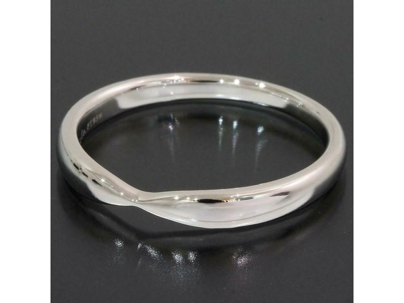 Tiffany & Co. Platinum Harmony Band Mens Ring TNN-1692