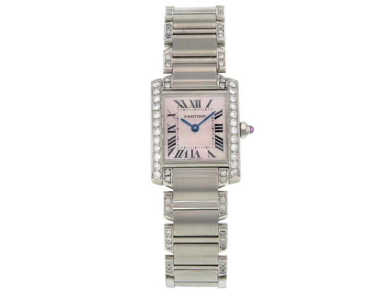 Cartier Tank Francaise 51028Q3 37mm Quartz Diamond Watch