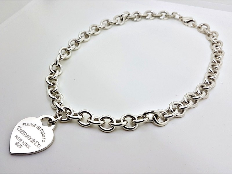 Tiffany & Co. Return to Tiffany Sterling Silver Heart Tag Necklace