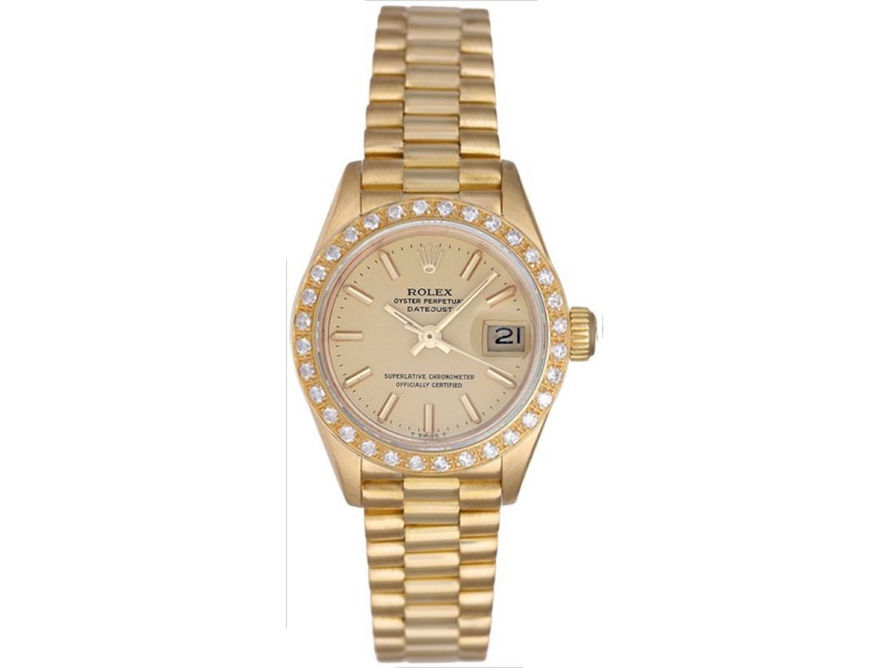 Rolex President 69178 18K Yellow Gold 26mm Womens Watch