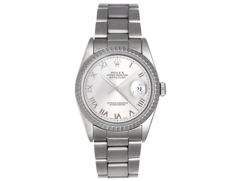 Rolex Datejust 16220 Stainless Steel 36mm Mens Watch
