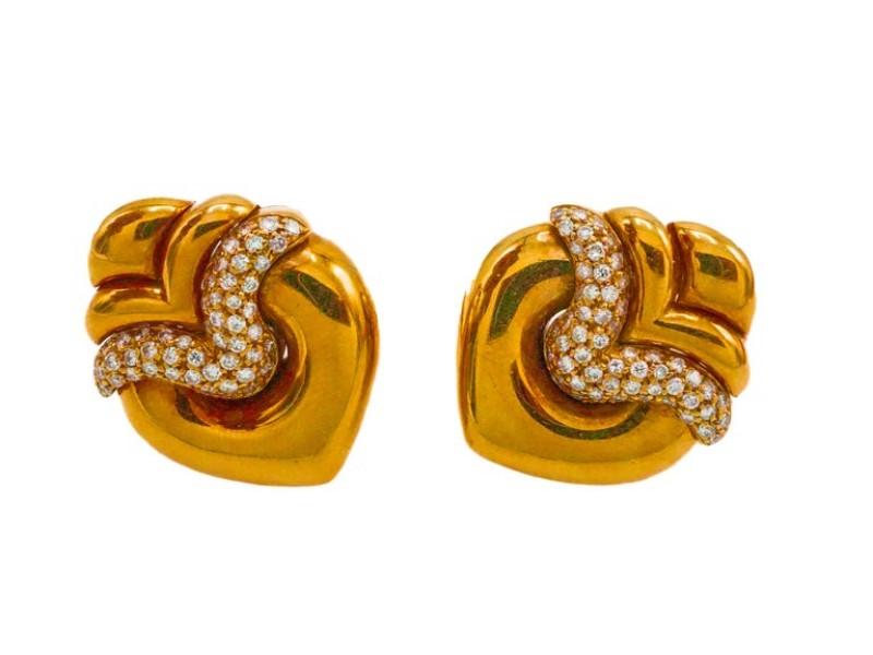 Bulgari Gold and Diamond Earrings