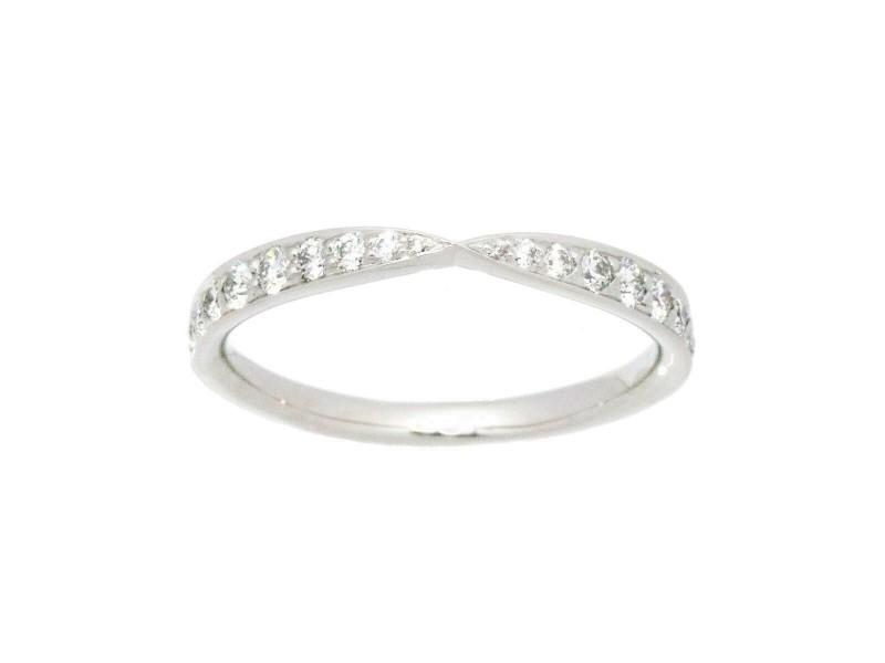 TIFFANY & CO. Platinum Diamond Harmony Ring Rcb-122