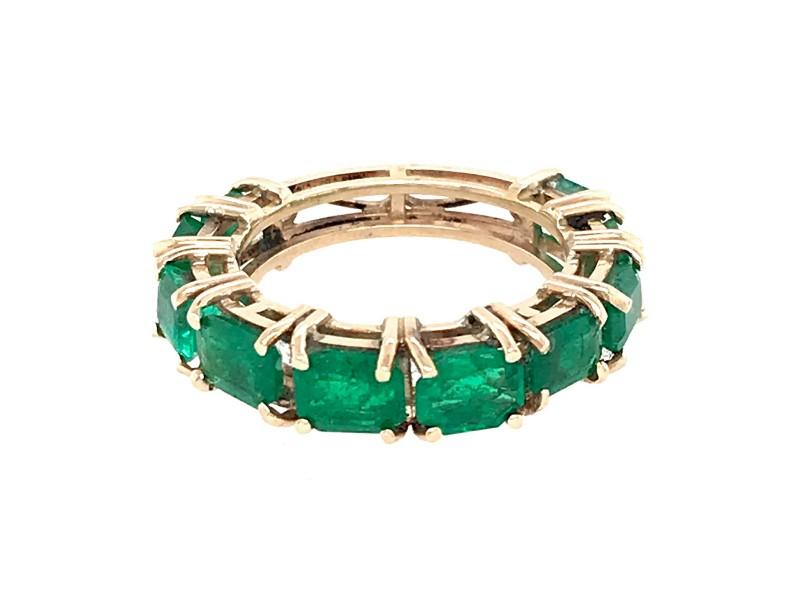 Emerald Cut Emerald Band Ring