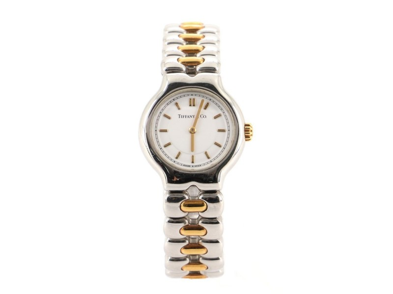 Tiffany & Co. Tisolo Quartz Watch Stainless Steel and Yellow Gold 24