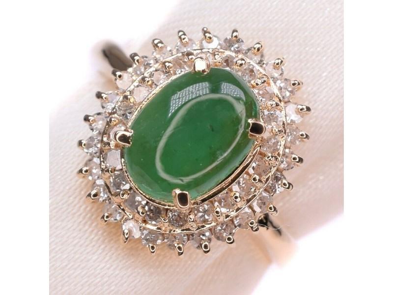 Emerald 18k yellow gold/Diamond Ring NST-395