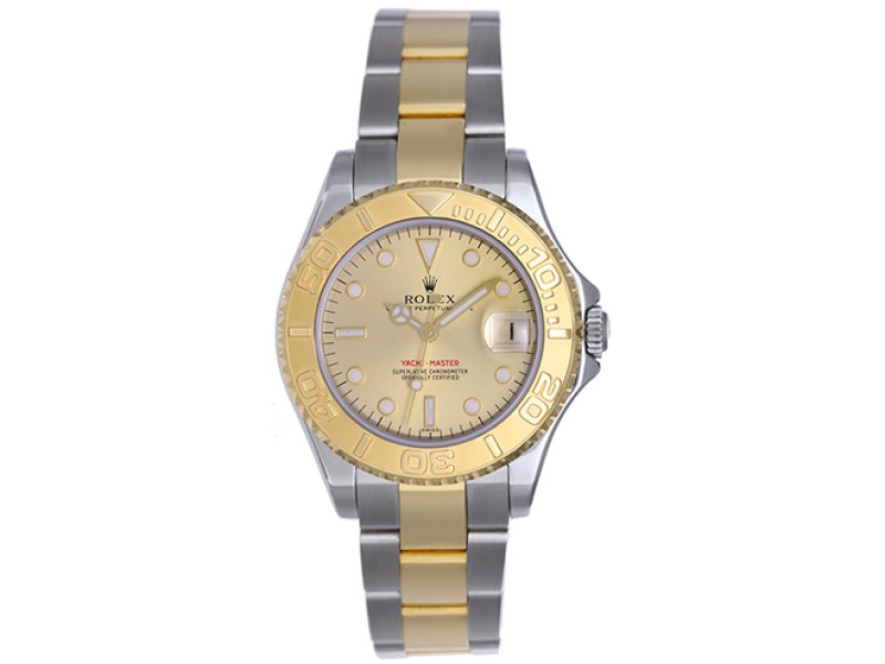 Rolex Yacht-Master 168623 Stainless Steel & 18K Yellow Gold Automatic 35mm Unisex Watch