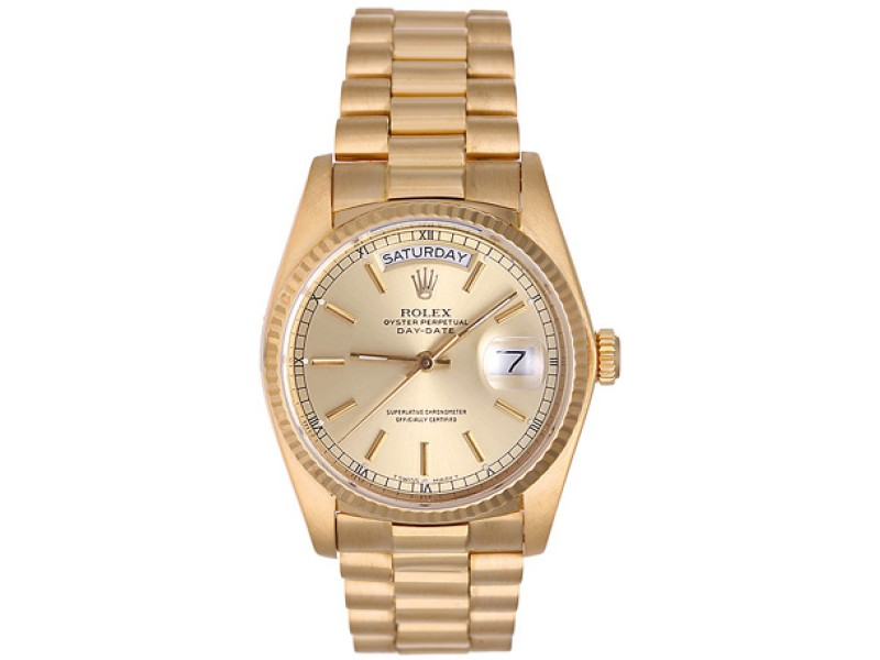 Rolex President Day-Date 18038 18K Yellow Gold 36mm Mens Watch
