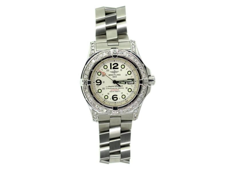 Breitling Superocean Stainless Steel & Diamond 44mm Watch
