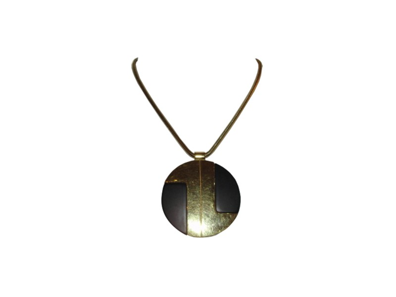 Lanvin Gold Plated and Plastic Vintage Necklace