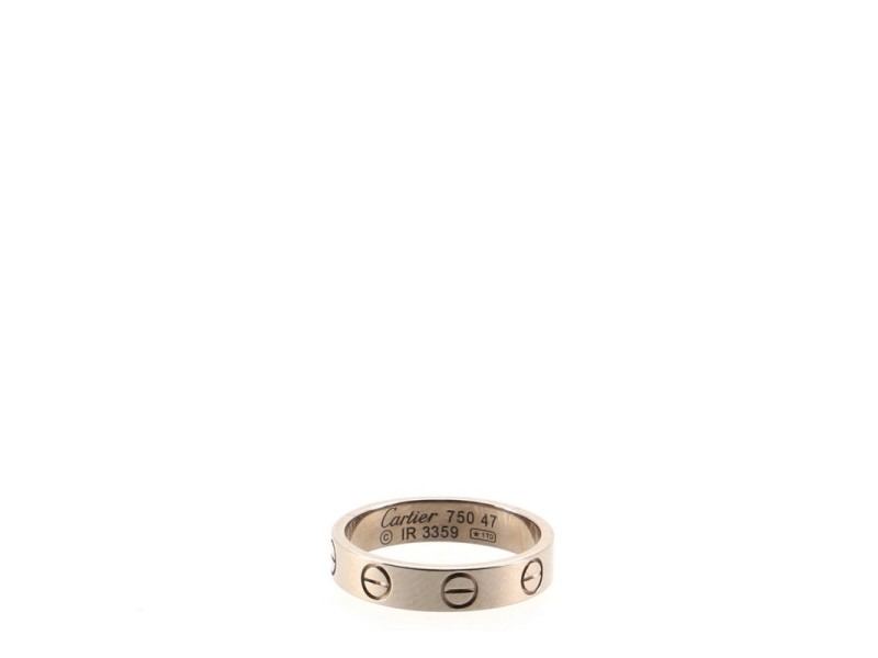 Cartier Love Wedding Band Ring 18K White Gold