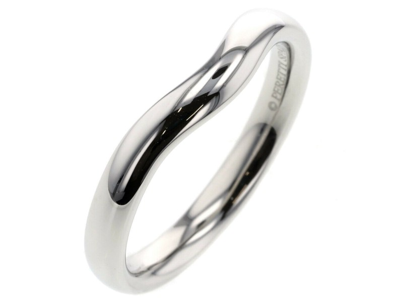 TIFFANY & Co. 950 platinum Curved band  Ring