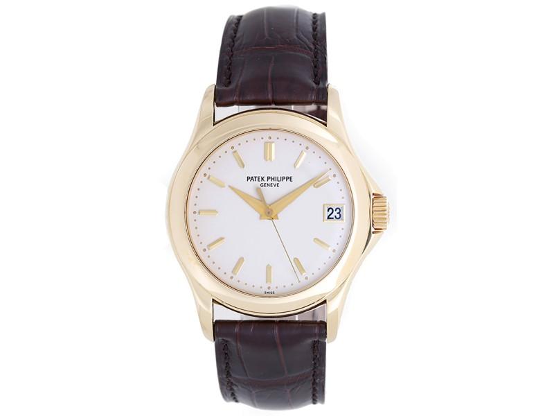 Patek Philippe Calatrava 5107 J 18k Yellow Gold Automatic 36mm Mens Watch