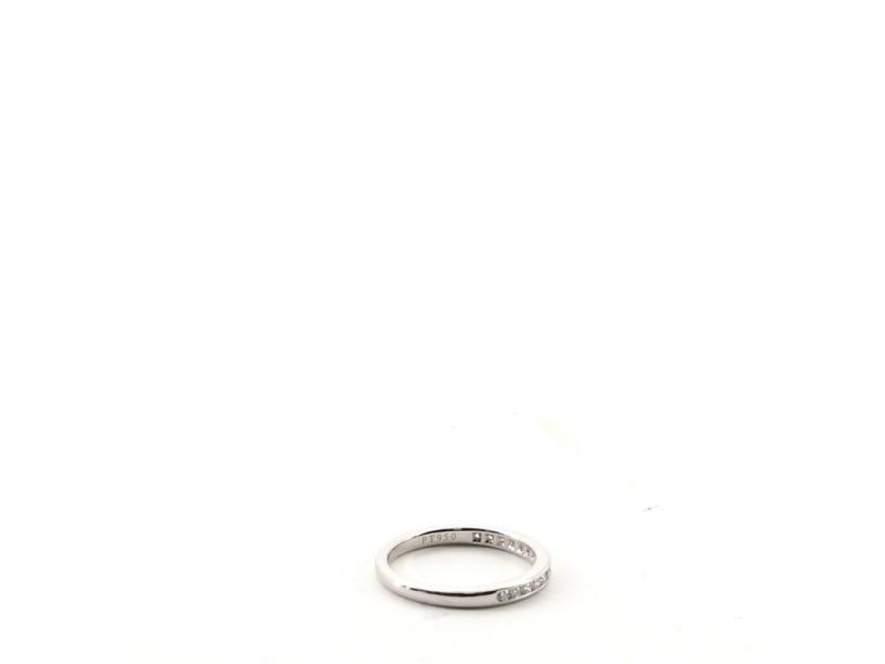 Tiffany & Co. Half Eternity Band Ring Platinum and Diamonds