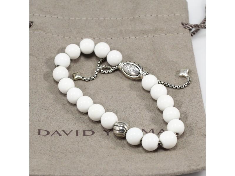 David Yurman Bead Bracelet with Riverstone, adjustable