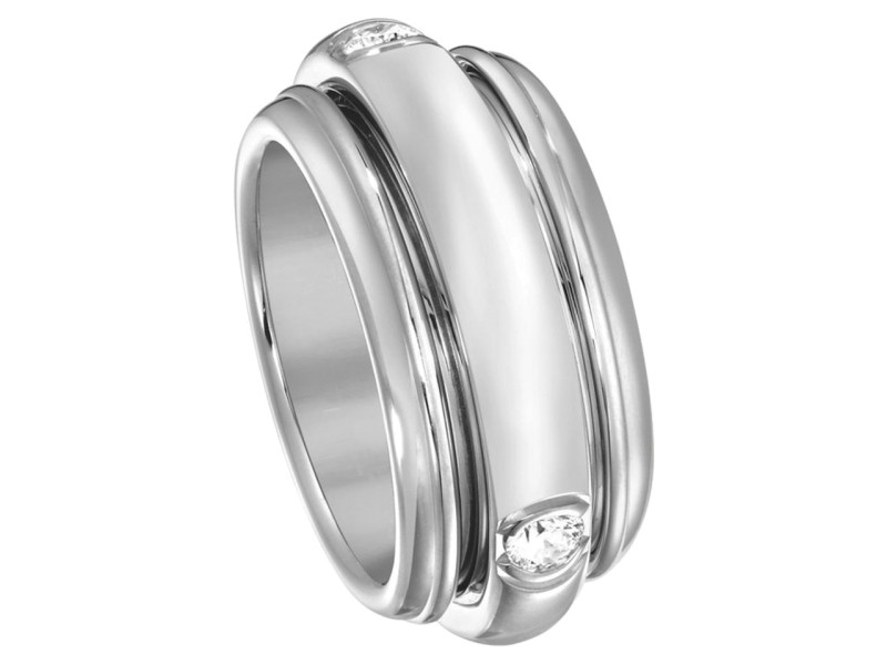 Piaget 18K White Gold Possession Diamond Ring Size 7.5
