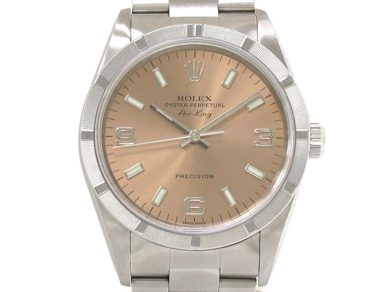Rolex Air King 14010 Stainless Steel Automatic 34mm Mens Watch