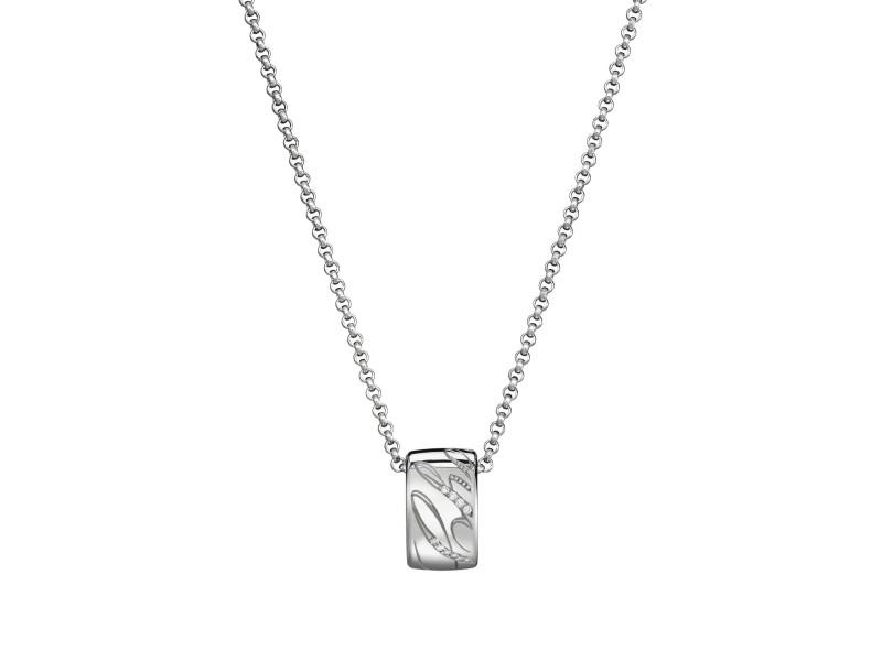 Chopard Chopardissimo 18K White Gold & 0.20ct Diamond Mini Ring Necklace