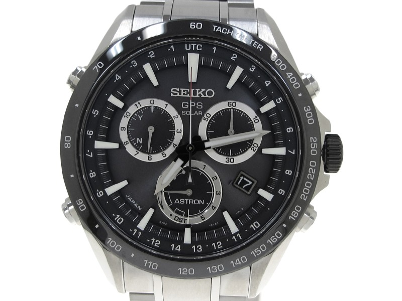 Seiko Astron Stainless Steel Mens 45mm Watch