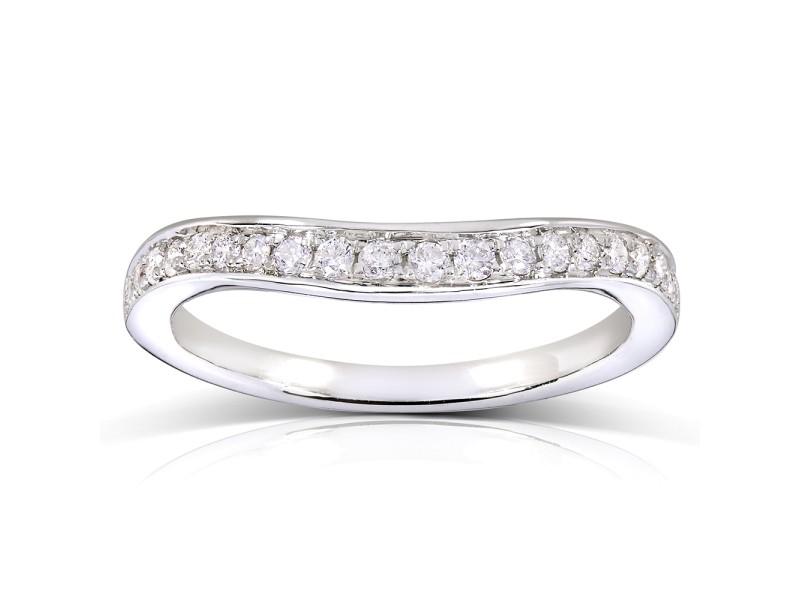 Round-cut Diamond Matching Wedding Band 1/5 Carat (ctw) in 14k White Gold
