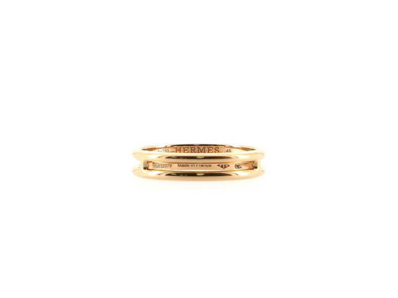 Hermes Arianne Wedding Band Ring 18K Rose Gold Small 4.75 - 49