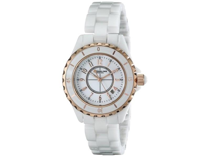 Stuhrling 530.114EW3 White Ceramic 34mm Watch