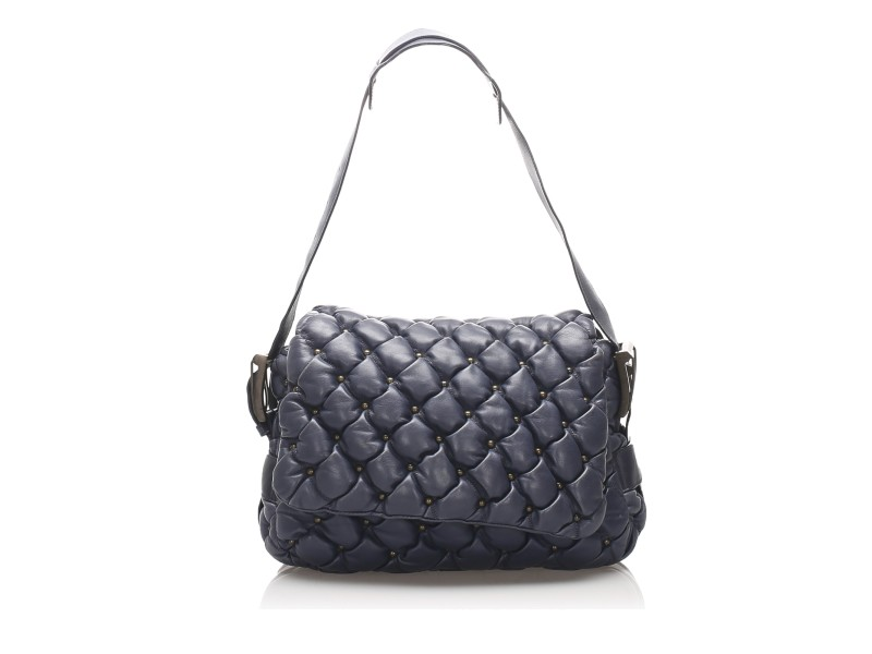 Chevre Quilted Shoulder Bag