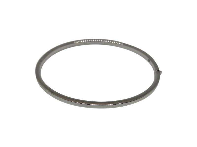 Roberto Coin Classic Collection 18K White Gold Bangle Bracelet
