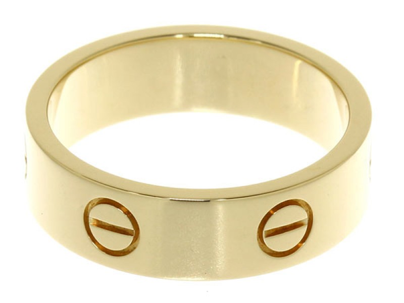 Cartier Love 18K Yellow Gold Ring Size 8.75