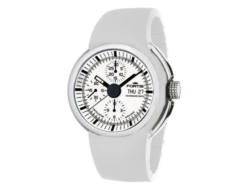 Fortis White White Silicone Strap 661.20.32 Si.02 Watch