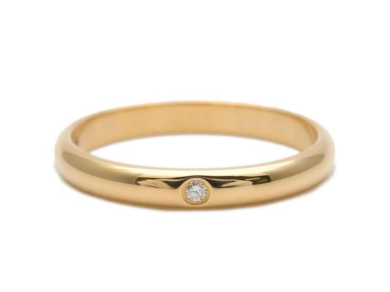 Cartier 1P Diamond & Yellow Gold Wedding Ring TNN-947