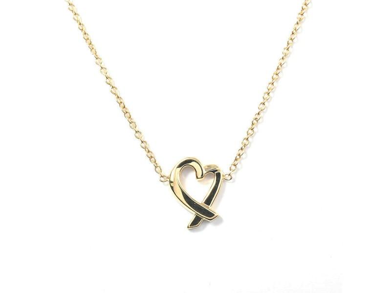 TIFFANY & Co. 18 Yellow Gold Loving heart Necklace