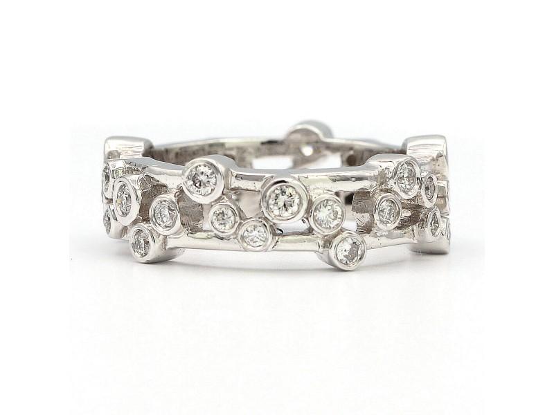 14K White Gold 1.30ctw. White Diamond Ring Size 6.75