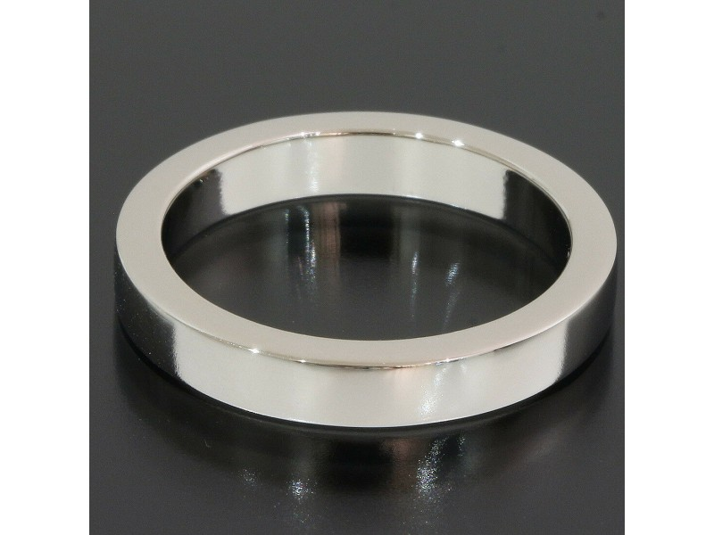 Bvlgari Bulgari Platinum Marryme Simple Wedding Band Ring TNN-1662