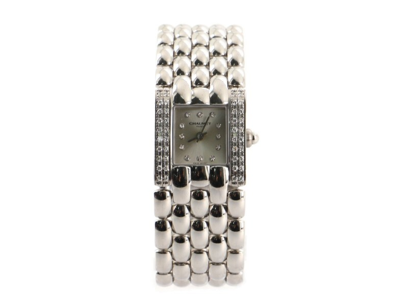 Chaumet Khesis Quartz Watch Stainless Steel with Diamond Bezel and Markers 21