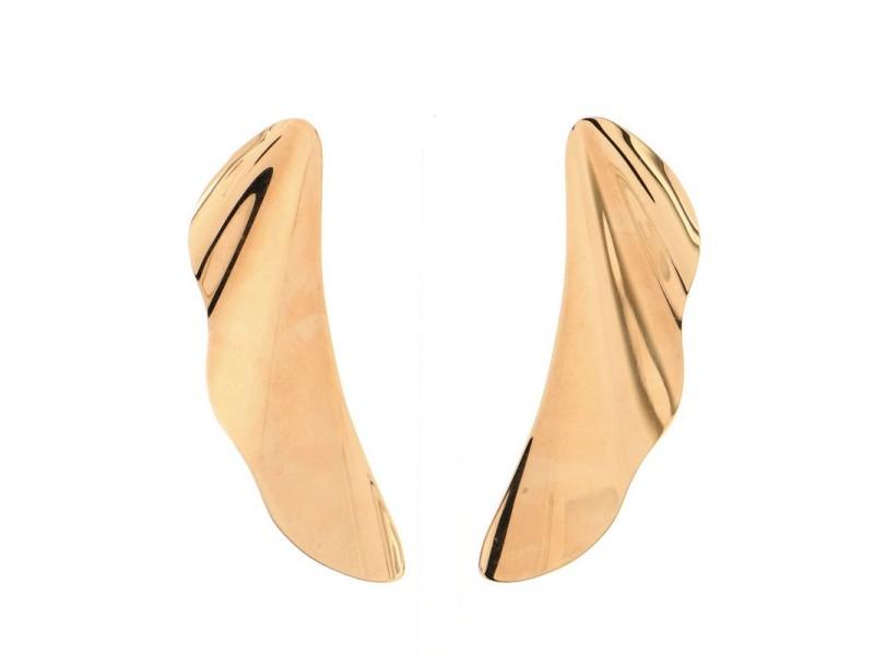 Tiffany & Co. Elsa Peretti High Tide Dangle Earrings 18K Rose Gold