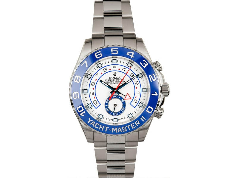 Rolex Yacht-Master II 116680 Stainless Steel & Blue Ceramic Bezel 44mm Mens Watch