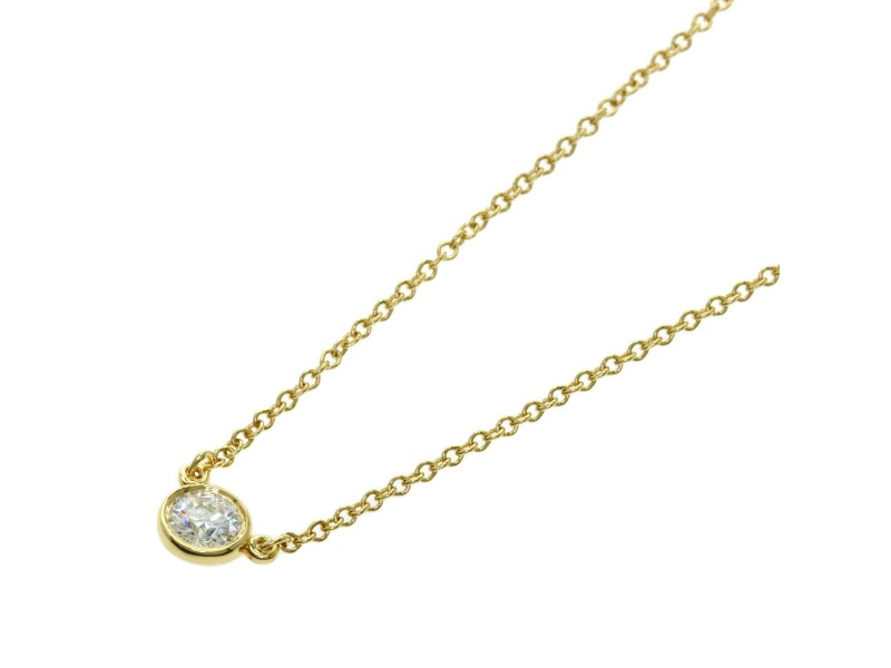 TIFFANY & Co. 18k Yellow Gold By The Yard Necklace