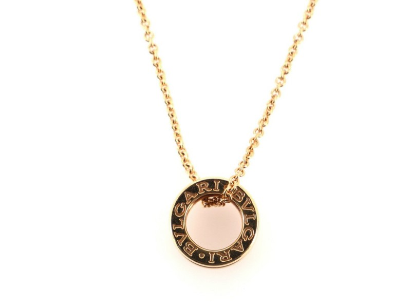 Bvlgari B.Zero1 Pendant Necklace 18K Rose Gold