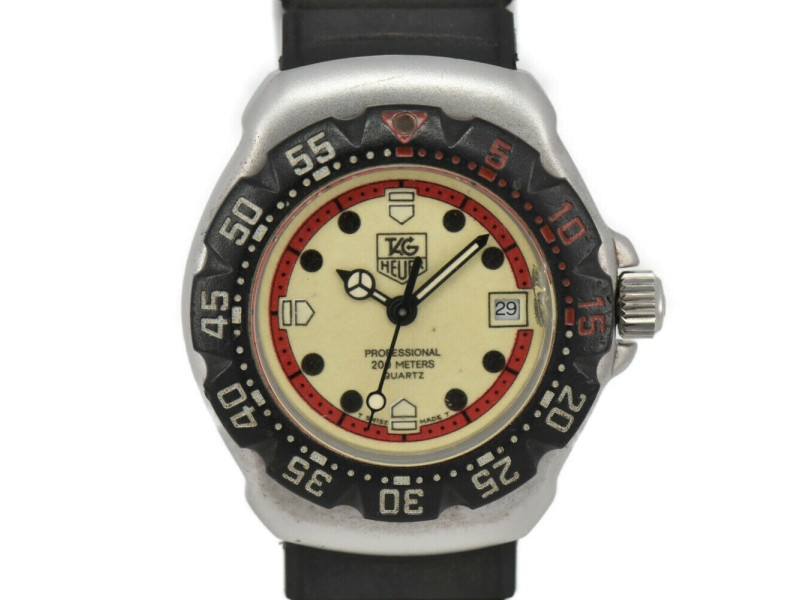 TAG HEUER Formula 1 371.508 Light yellow Dial Stainless Steel/Rubber Quartz
