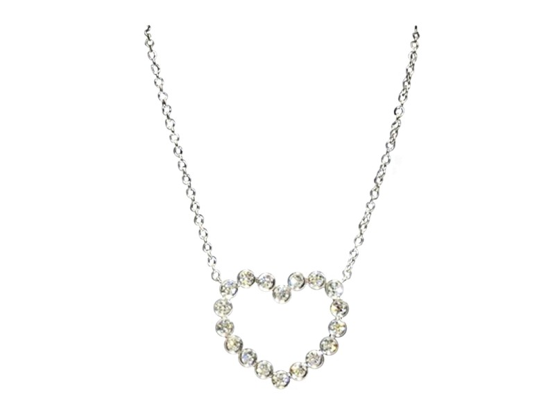 Tiffany & Co. Platinum & Diamond Heart Necklace