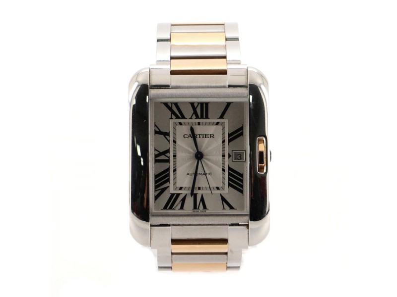 Cartier Tank Anglaise Automatic Watch Stainless Steel and Rose Gold 36