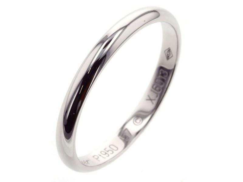 CARTIER 1895 Wedding 950 Platinum Ring TBRK-270